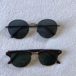 Accessories - 2 pairs of sunglasses.